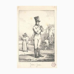 Jean-Jean - Original Lithograph by Horace Vernet - Early 19th Century