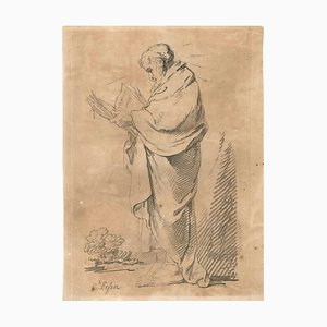 The Patriarch - Original Lithograph on Paper - Late 18th Century