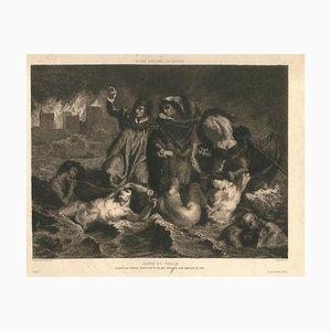 Dante et Virgile - Original Etching by Lucian Carred - 1886