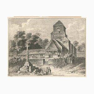 Old Church - Original Radierung von FE Weirotter - Mid 1700