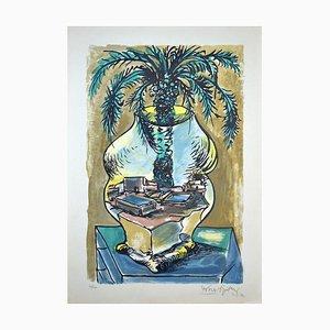 Lithographie The Vase - Original par Ercole Pignatelli - 1972
