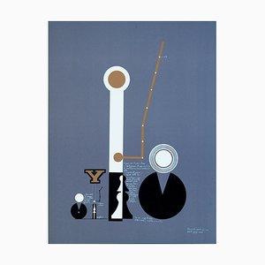 Signal Block - Original Lithograph by Mario Persico - 1970 ca.