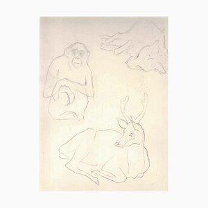 Tierskizzen - 1910er - Ernest Rouart - Drawing