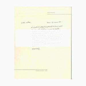 Autograph Buchstabe von Piero Dorazio - 1950s - Contemporary 1956