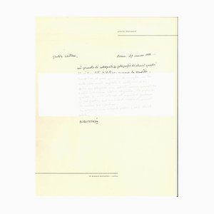 Autograph Letter by Piero Dorazio - 1950s - Contemporary 1956