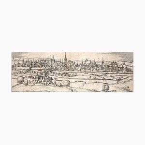 Mapa antiguo de Regensburg de Civitates Orbis Terrarum 1572-1617