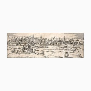 Regensburg, Antike Karte von '' Civitates Orbis Terrarum '' 1572-1617