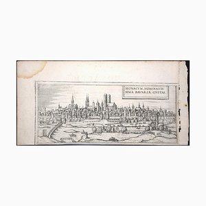 München, Antike Karte von '' Civitates Orbis Terrarum '' - 1572-1617 1572-1617