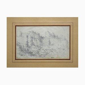 Arques - Original Pencil Drawing by Paul Louis Aleandre Wallet 1861