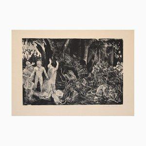 The Prophecy - Original Lithografie von Jean-Eugène Bersier - 20. Jahrhundert