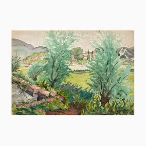 Landscape - Northern France - Watercolor on Paper - 1932
