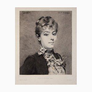 Parisienne - Original Radierung von Fernand Desmoulin - 1886