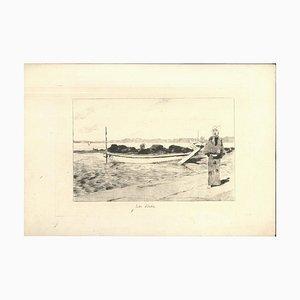 Lac d'Imba - Original Radierung auf Japanpapier von GF Bigot - Tokyo 1886