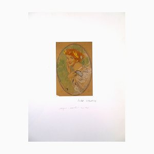 Woman Laughing - Original Pastel by Michel Simonidy - 1920s 1920s