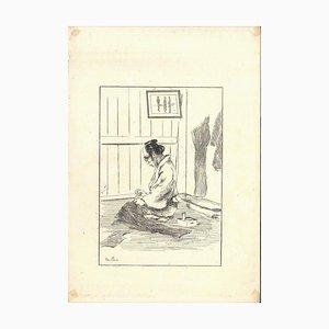 Tailleur - Original Radierung auf Japanpapier von GF Bigot - Tokyo 1886