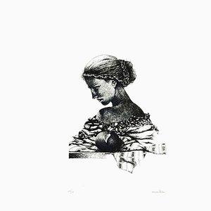 Woman - Original Siebdruck von Oscar Pelosi - 1980er 1980er