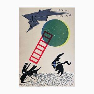 Untitled - Original Siebdruck von Tommaso Cascella - 1972 1972