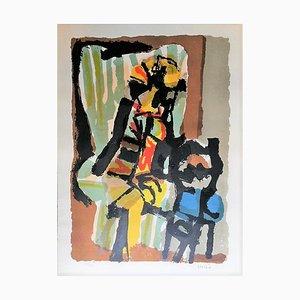 Woman on Armchair - Original Etching by Antonio Scordia - 1950 1980