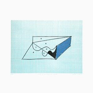 Skizze für ein unmögliches Projekt - Original Litho von Costantino Persiani - 1971