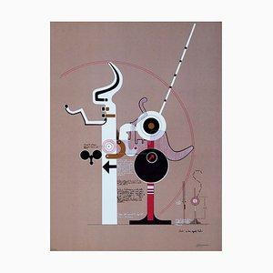 Signs of Celebration - Original Lithographie von Mario Persico - ca. 1970