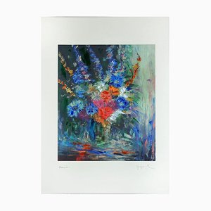 Spring Flowers - Original Digigraph by Martine Goeyens - Early 2000