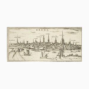 Bremen, Karte von '' Civitates Orbis Terrarum '' - von F.Hogenberg - 1572-1617 1572-1617