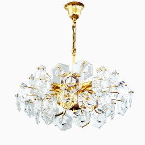Kinkeldey Hexagon Crystal Glass Chandelier