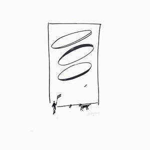 Mann und Hund - 20. Jahrhundert - Sante Monachesi - Serigrafie - Contemporary