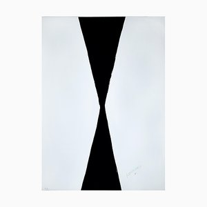 Black And White Hourg- 20th Century - Sante Monachesi - Serigraph - Contemporary