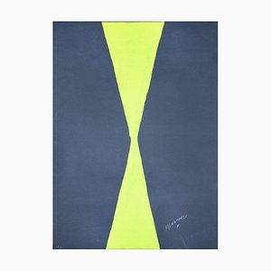 Green Hourglass - 20th Century - Sante Monachesi - Serigraph - Contemporary