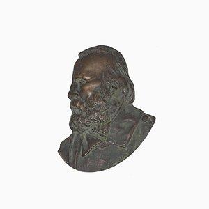 Profil Garibaldi - Sculpture Originale 19ème Siècle en Bronze, 19ème Siècle