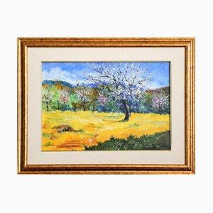 Spring - Original Öl auf Leinwand von Luciano Sacco 1990er