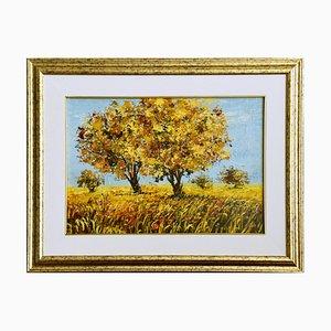 Summer - Original Öl auf Leinwand von Luciano Sacco 1990er