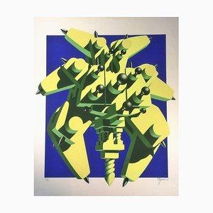 Totem Machine - Original Siebdruck von Ramon Alejandro 1970-80