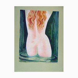Aphrodite Anadyomene - 1970s - Emile Deschler - Watercolor - Contemporary