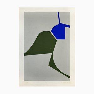 Mediterranean Abstract - Original Screen Print by Renato Barisani - 1983 1983