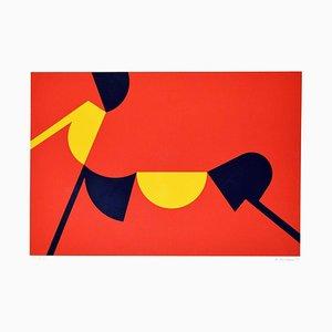 Abstract Sunset - Original Screen Print by Renato Barisani - 1983 1983