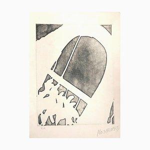 Figure et Arche - 20ème Siècle - Sante Monachesi - Gravure à l'Eau-Forte - 1970 ca. 1970 env.