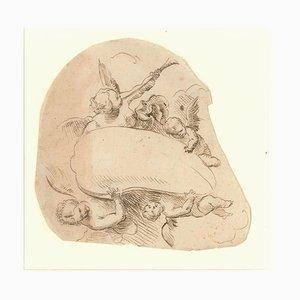 Cupids - Original China Tuschezeichnung - 18. Jahrhundert