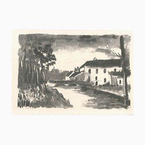 Le Moulin de La Naze - Originale Lithographie von M. de Vlaminck - 1925-26 1925/26