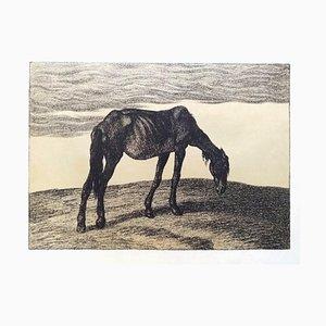 Lithographie Originale d'Ausgedient par Ferdinand Andri - 1917 1917