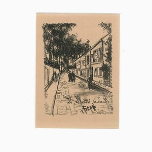The Walk - Original Lithograph by Maurice Utrillo - 1927 1927
