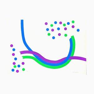 Composición óptica - Serigrafía original de Mario Padovan - 1973 1973