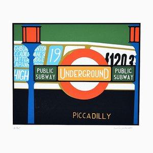 Piccadilly - Original Siebdruck von Mario Padovan - 1970er 1960er