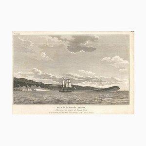 Pays de la Nouvelle Albion - Original Radierung 1795 1795