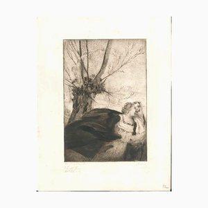 Mein Weg mit dem Weib #18 - Original Etching by W.R. Rehn 1919