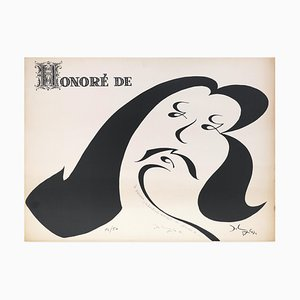 Honoré - Original Lithograph by French Master First Half 20th Century Early 20th Century