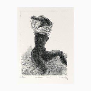 La Chemise Blanche - Original B/W Etching by G. Arnulf - 1969 1969
