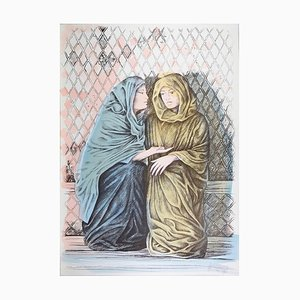 The Offer - Original Hand-Colored Lithograph by A. Quarto - 1985 1985