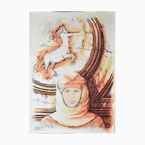 Sagittarius - Original Hand-Colored Lithograph by A. Quarto - 1985 1985